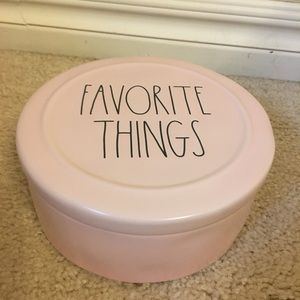 Rae Dunn pink Favorite Things container NWOT
